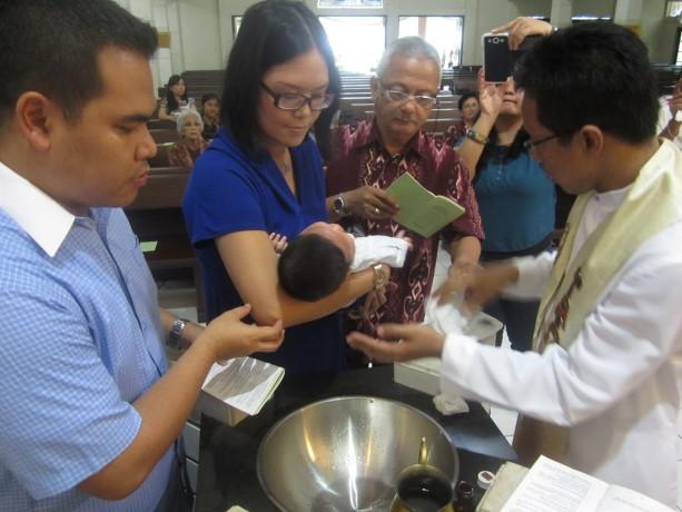 Baptisan Bayi (April 2014) Kapel Desa Putera